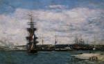 Le Port Du Havre by Eugene Louis Boudin