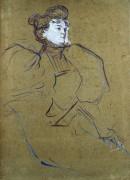 Misia Natanson by Henri de Toulouse-Lautrec