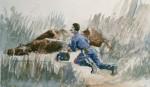 Cavalry Manoeuver by Henri de Toulouse-Lautrec