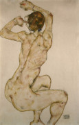 The Crouch by Egon Schiele