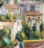 House At Cagnes by Pierre Auguste Renoir