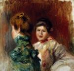 The Heads Of Two Women by Pierre Auguste Renoir