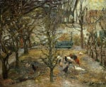 Chicken-Run At The Red House by Camille Pissarro