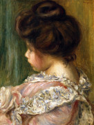 Portrait Of A Young Girl by Pierre Auguste Renoir