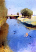 Landscape With A Canal by Lesser Ury