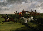 The Grand Leicestershire Steeplechase, March 12, 1829: Symptoms Of Distress by Henry Alken