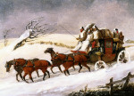The Dover To London Coach: In Winter by Henry Alken