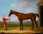Sir Patrick Blake's Bay Colt, Sir Anthony, Held By A Groom by Francis Sartorius