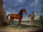 An Arab Stallion Held By A Groom by Sawrey Gilpin