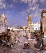 Figures In A Moorish Town by Franz Richard Unterberger