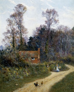 In A Witley Lane by Helen Allingham
