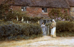 A Cottage At Haslemere by Helen Allingham