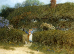A Cottage At Freshwater,  Isle Of Wight by Helen Allingham
