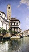 A Venetian Canal Scene by Rafael Senet