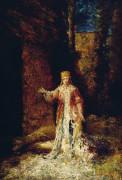 Lady Macbeth:  Act II, Scene II by Adolphe Joseph Thomas Monticelli