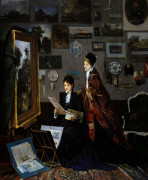 In The Studio by Alfred George Stevens