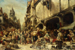The Market Place by Louis Eugene Gabriel Isabey
