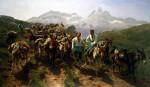 Spanish Muleteers Crossing The Pyrenees by Rosa Bonheur