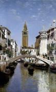 A Canal Scene, Venice by Martin Rico Y Ortega