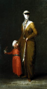 A Turkish Lady With Her Child by Circle of Jean Barbault