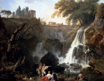 The Cascade At Tivoli by Claude Joseph Vernet