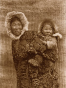 Mother And Child - Nunivak by Edward S. Curtis