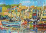 Cassis Harbour by Anne Rea