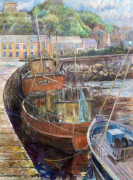 Fishing Boats at Howth Harbour by Anne Rea