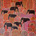Nine Elephants by Kitti Narod
