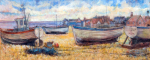 Aldeburgh Beach Looking South by Anne Rea