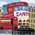 Piccadilly Circus by Louise Cunningham