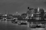 Southbank at Dusk BW by Christopher Holt