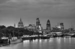 The City of London at night (black and white) by Christopher Holt