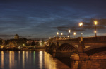 Battersea Bridge at night by Christopher Holt