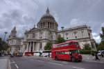 St Paul's Cathedral Bus by Christopher Holt