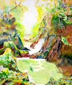 Fairy Glen Wales by Luisa Gaye Ayre