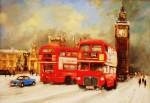 Westminster Bridge-Winter by Martin Ulbricht