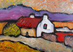 Cottage Purple Mountain by Jeremy Mayes