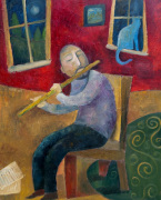 The Flute Player by Jeremy Mayes