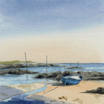 Blue Boat, Westhaven by Brian Petrie