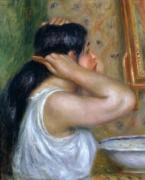 Girl Combing her Hair, 1907 by Pierre Auguste Renoir