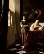 Lady Writing a Letter with her Maid c.1670