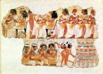 Banquet scene from the tomb-chapel of Nebamun, Thebes by Egyptian Art