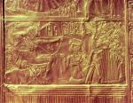 Detail from the Golden shrine, Tutankhamun's Treasure by Egyptian Art