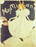 May Milton, France, 1895 by Henri de Toulouse-Lautrec