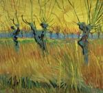 Pollarded Willows and Setting Sun 1888