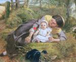 Mother and Child with a poppy by Frederick Richard Pickersgill