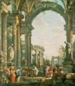 Classical ruins by Giovanni Paolo Panini