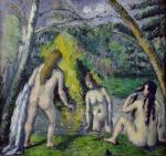 The Three Bathers, c.1879 by Paul Cezanne