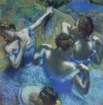 Blue Dancers, c.1899 by Edgar Degas